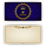 Elegant template for luxury invitation, card