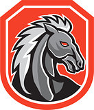 Horse Head Shield Retro