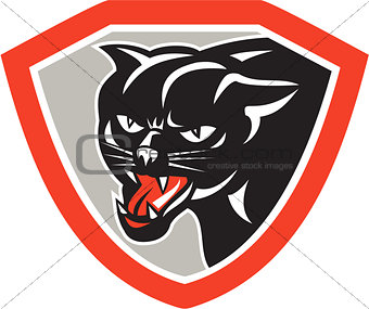 Black Cat Panther Head Shield
