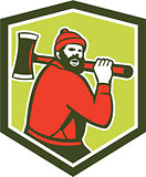 Paul Bunyan LumberJack Carrying Axe