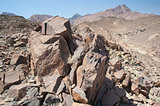 Granite mountain slope in a desert