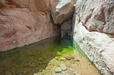 Freshwater pool in a mountain canyon