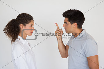 Casual business partners having an argument