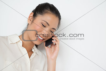 Casual businesswoman on the phone