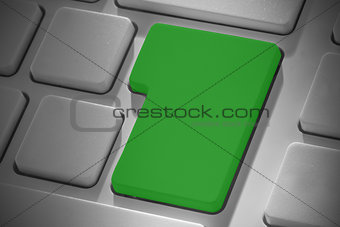 Green enter key on keyboard