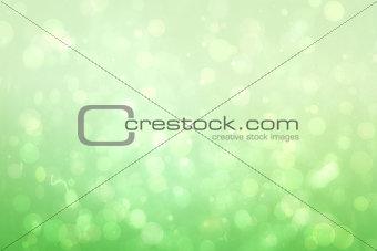 Green abstract light spot design