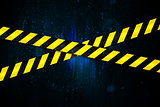Yellow and black cordon tape