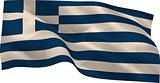 Digitally generated greek national flag