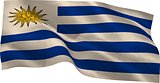 Digitally generated uruguay national flag