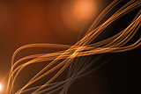 Curved laser light design in orange