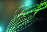 Curved laser light design in green