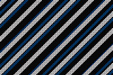 Cool linear pattern in black blue and white