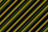 Cool linear pattern in black green and yellow