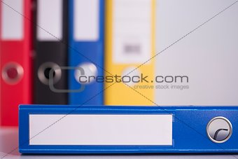 Blue business binder
