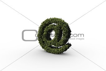 At symbol made of leaves