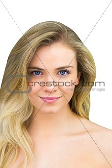 Smiling blonde natural beauty