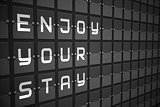 Enjoy your stay on black mechanical board