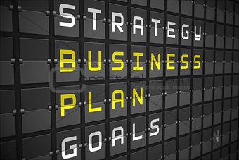 Business plan on black mechanical board