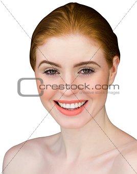 Beautiful redhead smiling at camera