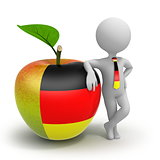 Apple with German flag and businessman