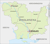 Map of Mykolaiv Oblast