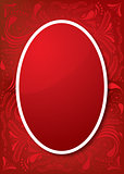 Easter Greeting Card with red egg