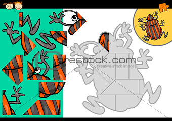 cartoon shield bug jigsaw puzzle game