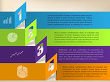 Infographic design with color origami shapes