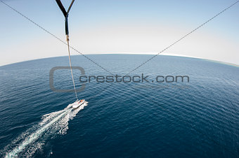 Aerial view from parasailing
