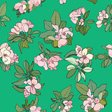 apple flowers pattern