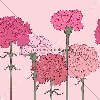 carnations pattern