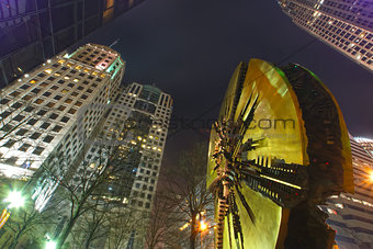 charlotte downtown at night