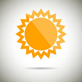 Sun Symbol Flat design