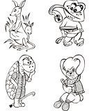 funny animal characters