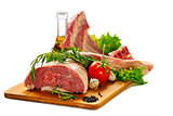 Raw lamb meat