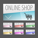 Modern label style Online shopping labels