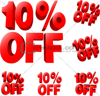 10% off Discount sale sign