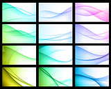 Abstract Color Background Set
