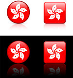 Hong Kong Flag Buttons on White and Black Background
