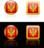 montenegro Flag Buttons on White and Black Background