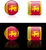 Srilanka Flag Buttons on White and Black Background