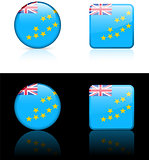 Tuvalu Flag Buttons on White and Black Background