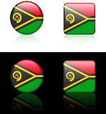 vanuatu Flag Buttons on White and Black Background