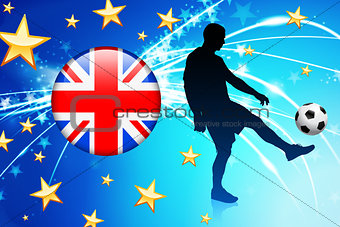 British Soccer Player on Abstract Light Background