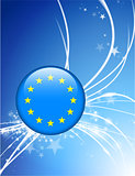 European Union Button on Abstract Modern Light Background