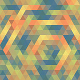 Seamless Triangle Pattern, Background, Texture Vector Geometric