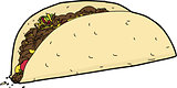 Isolated Taco