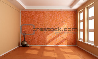 Orange empty room