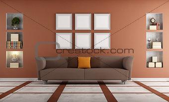 Modern sofa in a elegant interio