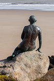 Folkestone Mermaid looking out to sea